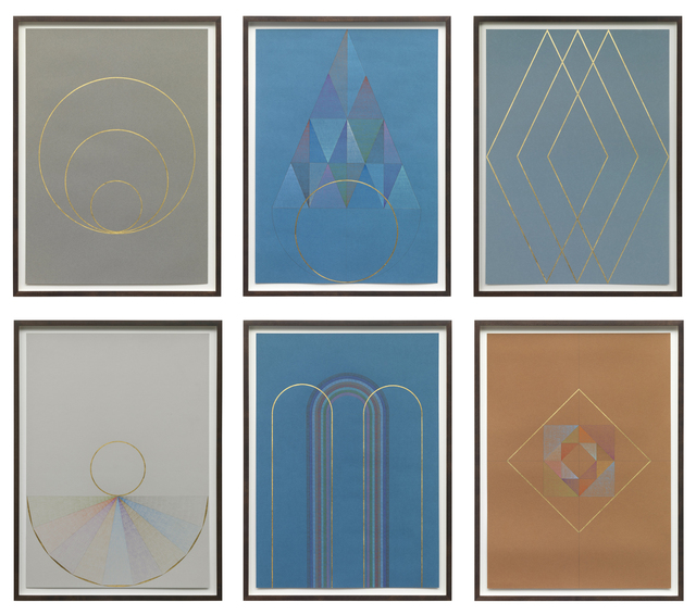 , 'Series of six untitled works on paper,' 2015, Barbara Mathes Gallery