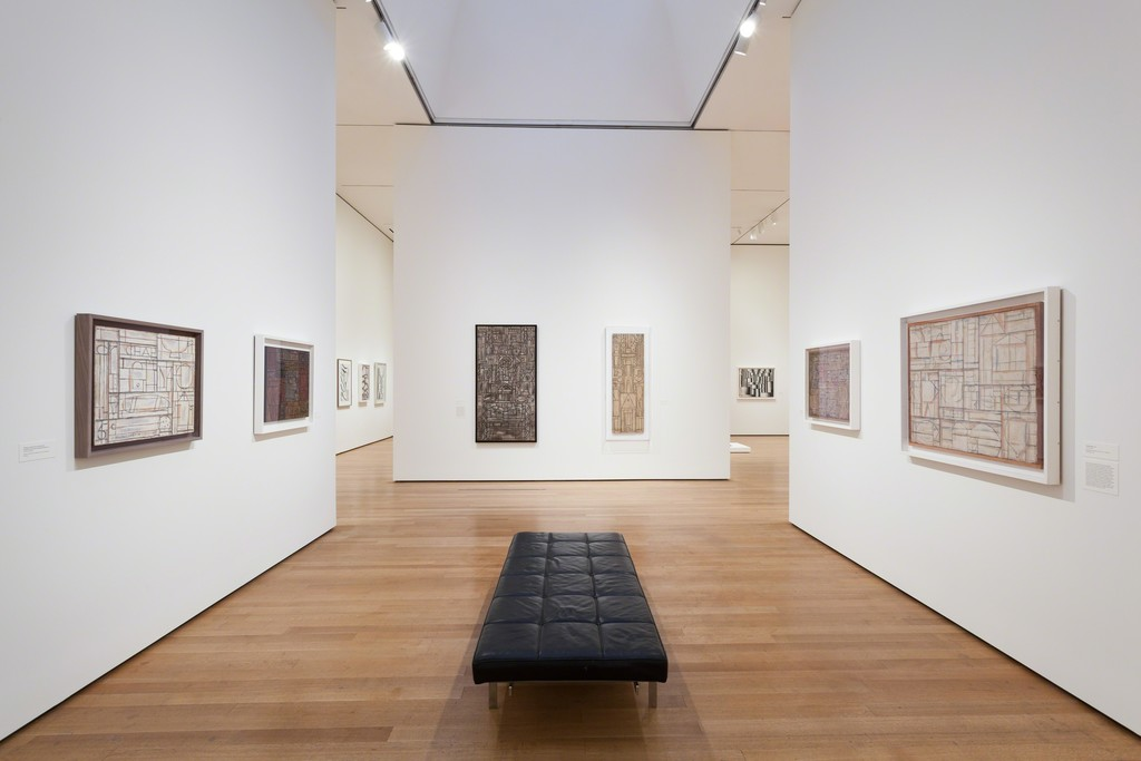 Installation view of Joaquín Torres-García: The Arcadian Modern at The Museum of Modern Art, New York (October 25, 2015–February 15, 2016). Photo by Jonathan Muzikar. © 2015 The Museum of Modern Art, New York