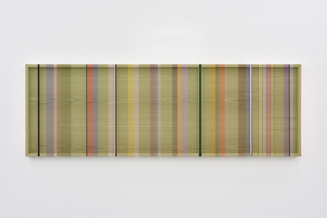 , 'Untitled (Green hovering thread),' 2016, PRAZ-DELAVALLADE
