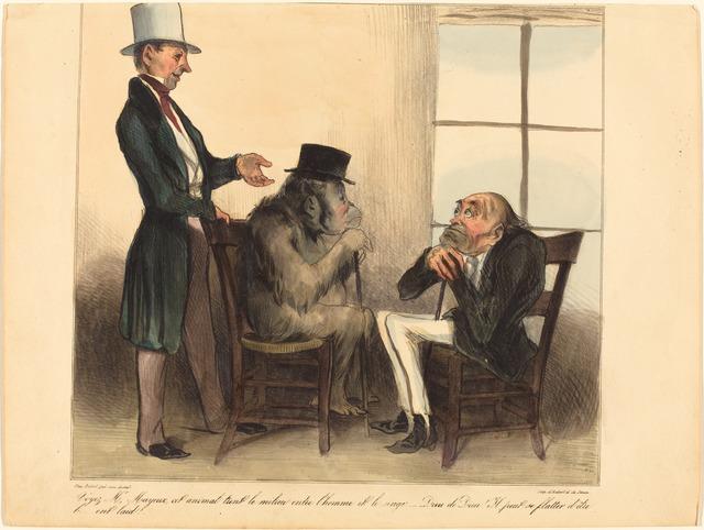 Honoré Daumier, 'Voyez, Mr. Mayeux, cet animal...', 1836, National Gallery of Art, Washington, D.C.