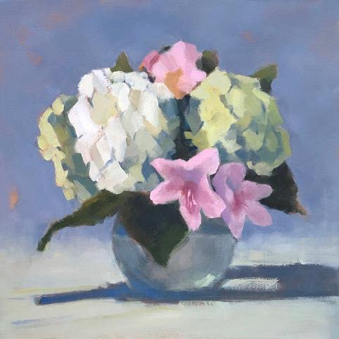 Lesley Powell, 'Hydrangea Centerpiece with Azaleas', 2019, Shain Gallery