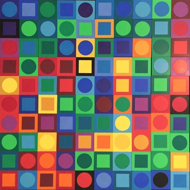 Victor Vasarely, 'Planetary Folklore Participations No. 1', 1960-1969, Lions Gallery