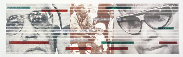 Sue Williamson, 'Truth Games: Winnie Mandela and the assassination of Dr Asvat', 1999, Goodman Gallery