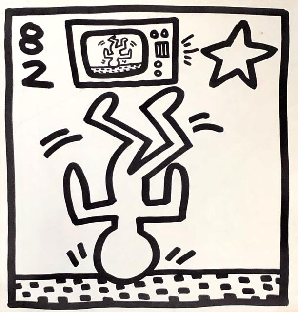 Keith Haring, 'Keith Haring lithograph 1982 (Keith Haring Tony Shafrazi gallery)', 1982, Lot 180