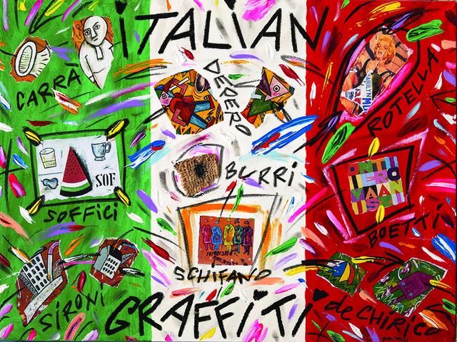 Bruno Donzelli, 'Italian Graffiti', Painting, Oil and collage on canvas, Bertolami Fine Arts