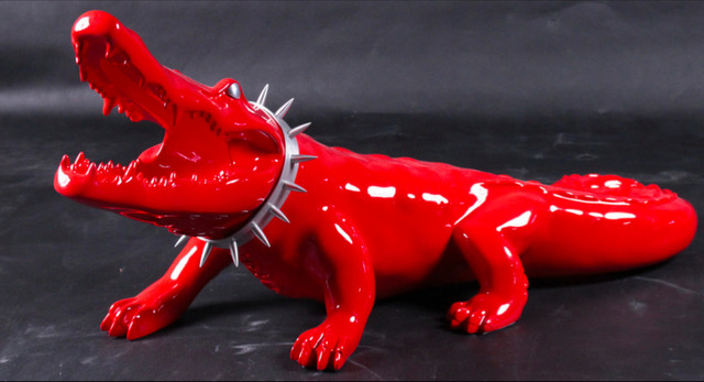 Richard Orlinski, 'Resin Crocodile with Aluminum Wild Neck', Art Angels