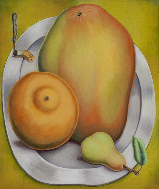 , 'Orange, Mango, Pear, Cigarette Butt,' 2018, New Image Art