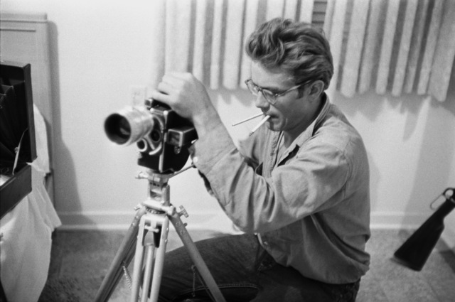 Richard C. Miller, 'James Dean with a Camera During the Shooting of GIANT', 1956, White Cross