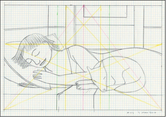 , 'Drawing for Sleeping Woman with Dog,' 2016, Adelson Galleries