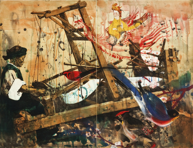 Hung Liu, 'Woman Working the Loom', 1999, Rachael Cozad Fine Art