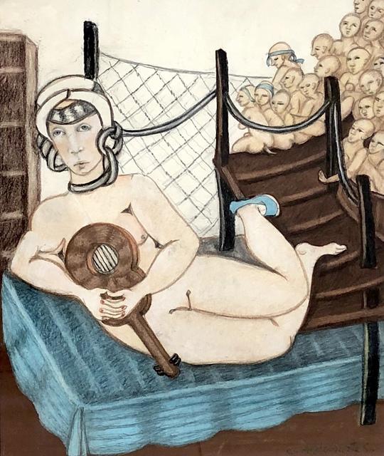 Carmen Aldunate, 'The Concert', 2018, Painting, Oil on paper, Kunst.cl