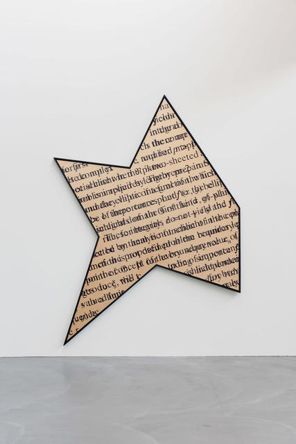 """Bernar Venet, 'Gold saturation with """"sheeted""""', 2009, Painting, Acrylic on canvas, von Bartha"""