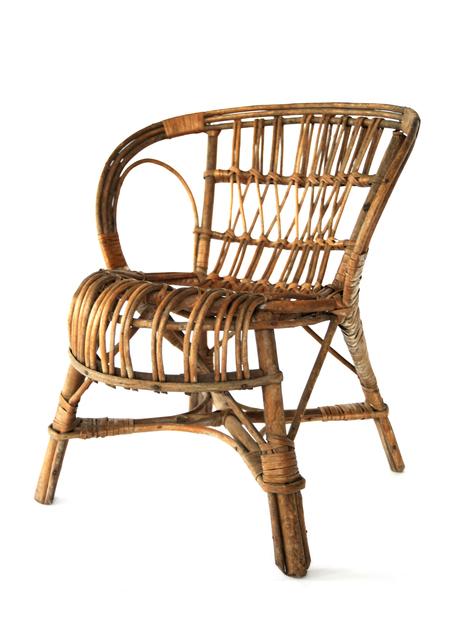 , 'Rattan Child Chair,' 20th Century, kinder MODERN