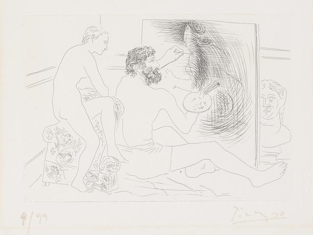 Pablo Picasso, 'Peintre au travail observé par un modèle nu (B. 89; Ba.130)', 1927, Sotheby's