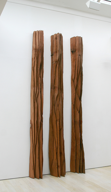 David Nash, 'Three Red Columns: Deepcut', 2010, Annely Juda Fine Art