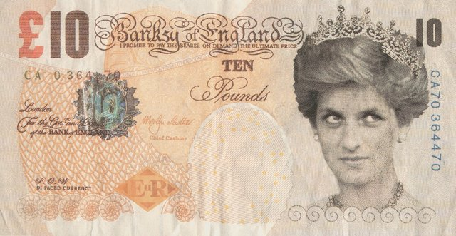 Banksy, 'Di-Faced Tenner, 10 GBP Note', 2005, Print, Offset lithographs in colors on paper, Heritage Auctions