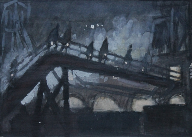 Norman Cornish, 'Miners approaching gentry', ca. 1960, Castlegate House Gallery