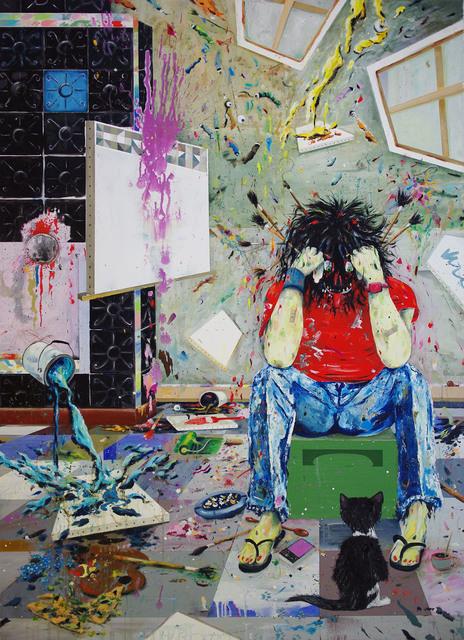 , 'Lazyland (Den Arsch voll Angst),' 2016, Hans Alf Gallery