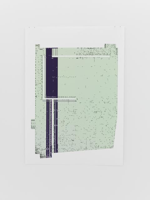 , 'Untitled  (Select_CV Floor Plan of Kunsthalle Zurich; light green),' 2017, Michel Rein Paris/Brussels