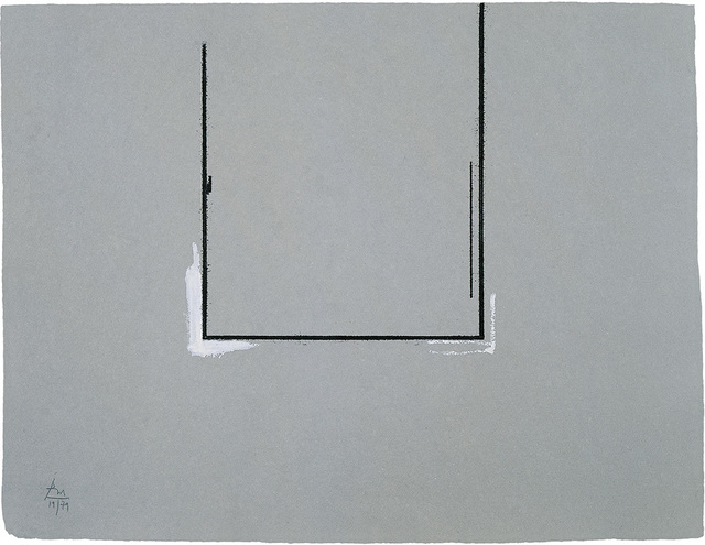 , 'Gray Open with White Paint,' 1981, Bernard Jacobson Gallery