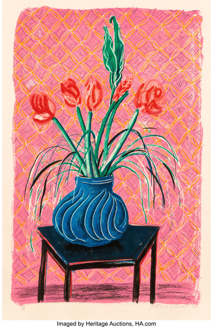David Hockney, 'Amaryllis in Vase, from Moving Focus', 1984, Heritage Auctions