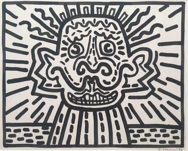 Keith Haring, 'Untitled, Sumi ink on paper', 1986, Painting, SUMI INK ON PAPER, AUTOGRAPHES DES SIECLES