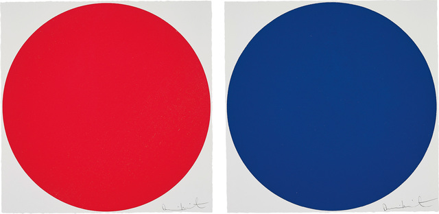 Damien Hirst, 'Amniotic Fluid; and Equilin, from 40 Woodcut Spots', 2011, Phillips