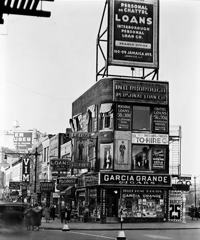 ", 'Billboards and Signs (from the series ""Changing New York""),' 1936, Bookstein Projects"