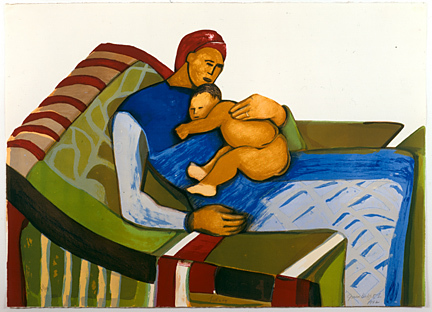 Gwendolyn Knight, 'Lullaby', 1992, Print, Lithograph on paper, DC Moore Gallery