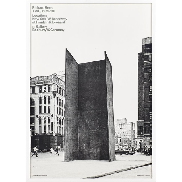 Richard Serra, 'TWU 1979/80', 1979, Ephemera or Merchandise, Rare offset Lithograph Poster Invitatine (frmed), Alpha 137 Gallery Gallery Auction