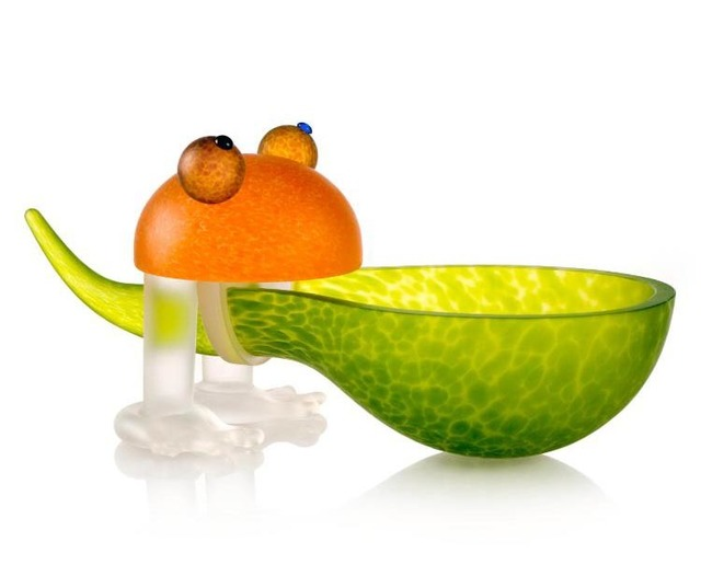 Borowski Glass, 'Frosch/Frog Bowl: 24-01-37 in Lime Green', 2018, Art Leaders Gallery