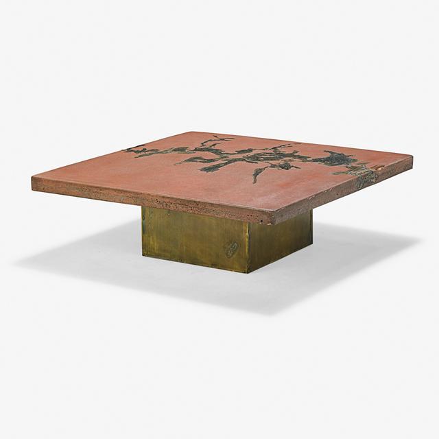 Silas Seandel, 'Terra coffee table, New York', Design/Decorative Art, Patinated bronze, stone with inset bronze, Rago/Wright