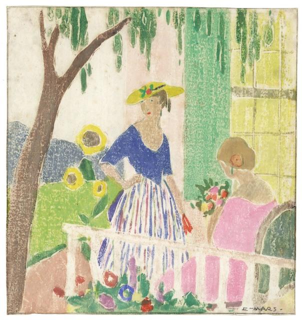 Ethel Mars, 'In the Garden.', ca. 1916, The Old Print Shop, Inc.