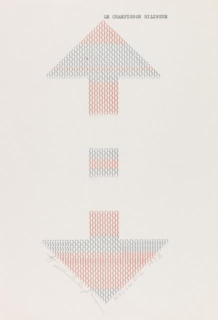 , 'Le Champignon Bilangue,' 1978, Richard Saltoun