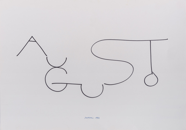 Bruno Munari, 'Augusto', 1990, Drawing, Collage or other Work on Paper, Marker on cardboard, ArtRite