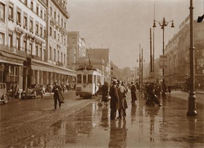 Léonard Misonne, 'Rainy Street with Tram in Brussels, Belgium', 1937, Contemporary Works/Vintage Works