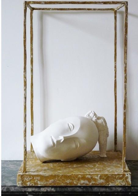 , 'Brancusi endormi,' 2015, Galerie Marie-Robin