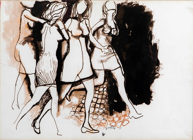 Renato Guttuso, 'Untitled', 1967, Drawing, Collage or other Work on Paper, Ink and watercolor on paper, Cambi