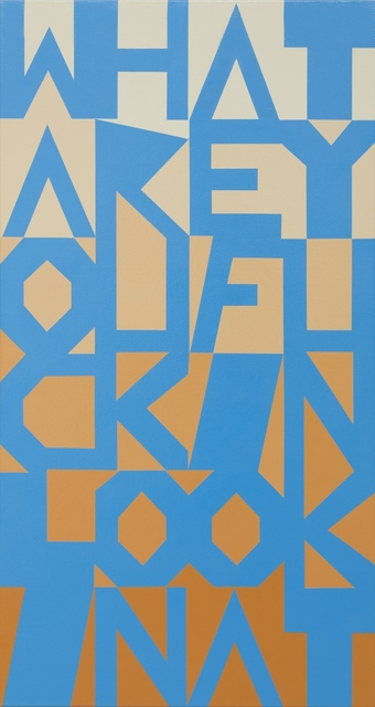 , 'What Are You Fuckin Lookin At,' 2014, Darren Knight Gallery