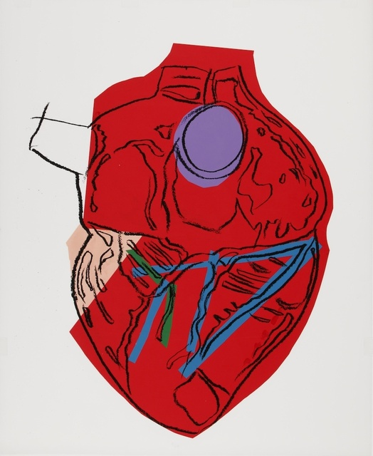 Andy Warhol, 'Heart', ca. 1982, Mixed Media, Silkcreen/collage, Artificial Gallery