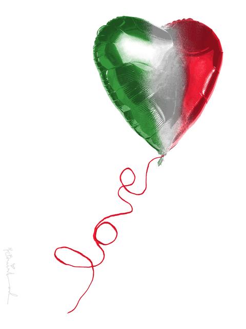 Mr. Brainwash, 'I Love Italy', 2020, Print, Silkscreen on paper, Deodato Arte