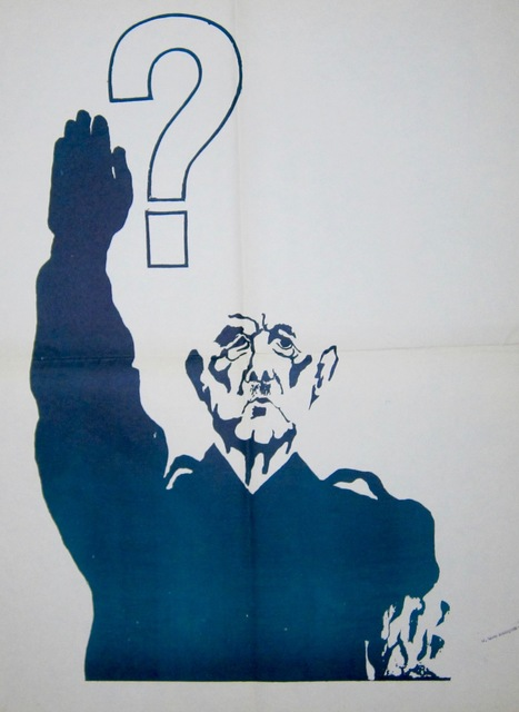 Anonymous, 'May '68 Poster  : De Gaulle Doing the Nazi Salute', 1968, Galerie OSP