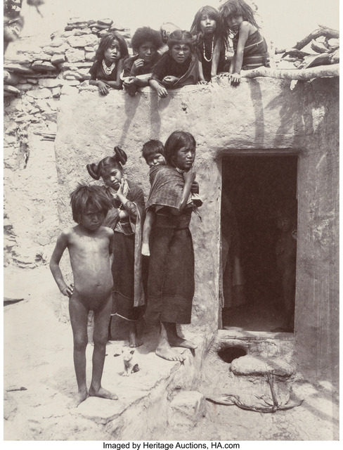 Adam Clark Vroman, 'Hopi Children and Young Mother, Walpi Village, August', 1895, Heritage Auctions