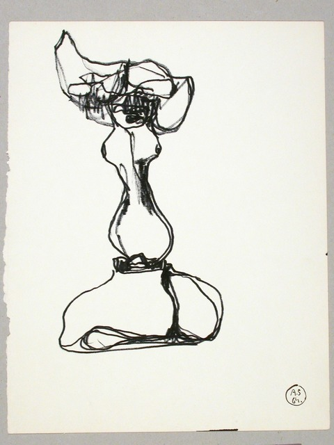 ", 'Sketch of the Sculpture ""Lead V"",' 1964, Galerie Isabella Czarnowska"