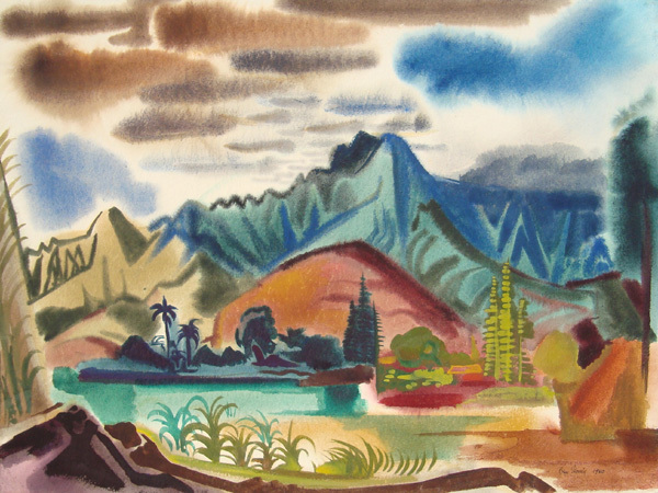 , 'Hawaiian Landscape Composition I,' 1950, Childs Gallery