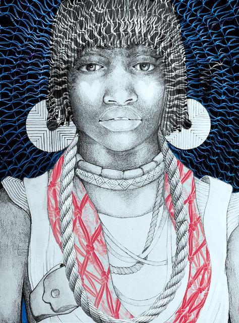 Lauren Clayton, 'Queen Bee', 2019, Print, Digital collage with original drawing, SHIM Art Network