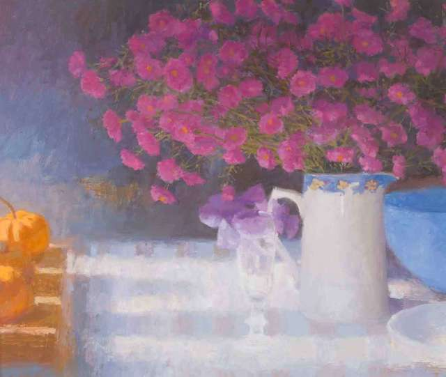 , 'Still Life with Purple Flowers,' 2018, Catto Gallery