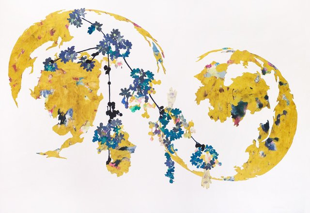 , 'Yet This Golden Earth, Blue Network Series,' 2018, Patricia Rovzar Gallery