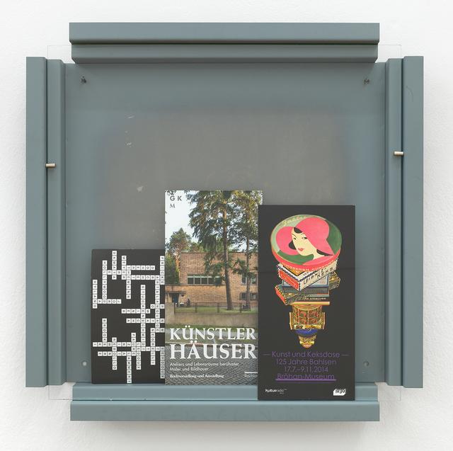 Manfred Pernice, 'Cassette 27', 2014, Galerie nächst St. Stephan Rosemarie Schwarzwälder