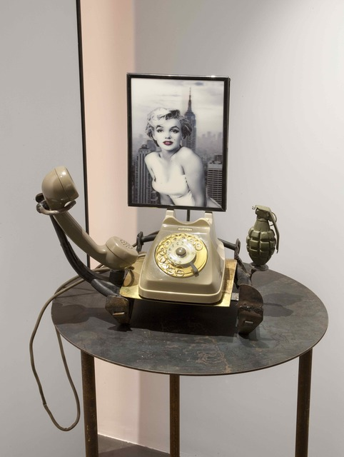 , 'Strumento per parlare con Marilyn,' 2012, Galleria Anna Marra